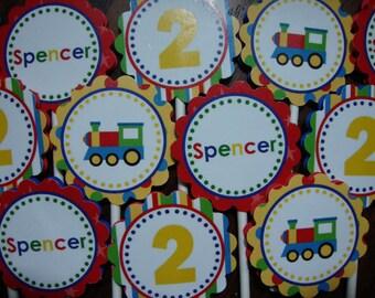 Choo Choo Train Cupcake Toppers