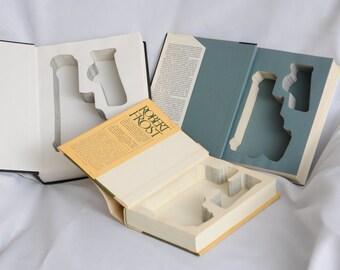 Book Safe for Glock Handguns - Hidden Book Gun Safe w/ Magazine cutout for Pistol Holster