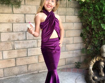 Selena Costume Purple, Burgundy Costume  outfit Girls Size 6m,8m,12m,18m,2,3,4,5,6,7,8,10,12Y