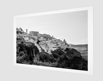 Santorini Hill Side Fine Art Print, 1:50 Limited Edition / home decor / decoration / photo / photography / black and white /modern landscape