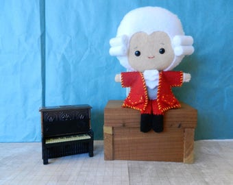 Felt Mozart Musical Composer Softie Plushie Doll by Noialand