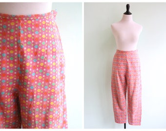 Vintage 1960's Candy Dot Print Pants | Size Small