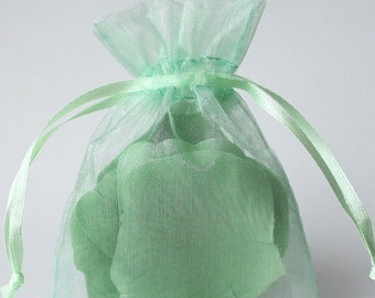 Mothers Day Sale 12 Pack Sheer Organza Drawstring Bags  2.75 X 4 Inch Size Great For Gifts, Favors, Sachets, Weddings