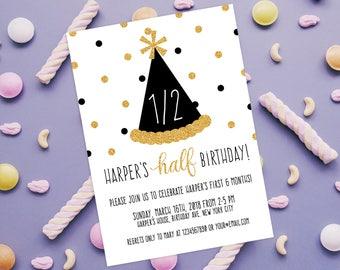half birthday invitation
