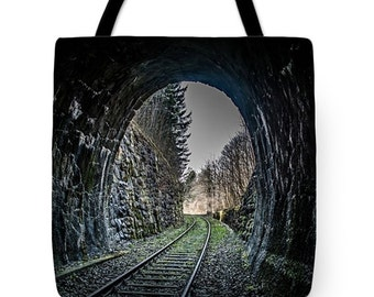 Tracking into the Light Tote Bag