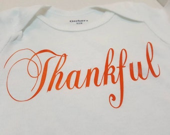 Thankful Onesies®- Thanksgiving Onesies®- Fall Onesies®- Thankful - Baby fall  Onesies® - Baby shower gift - Gift for baby - Baby shower