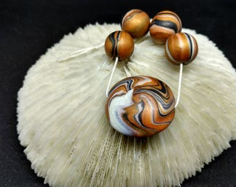 Handmade Polymer Necklace Bead Set (C)