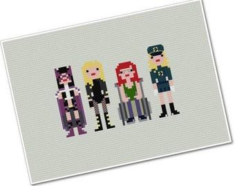 Birds of Prey - The *Original* Pixel People - PDF cross-stitch Pattern - INSTANT DOWNLOAD