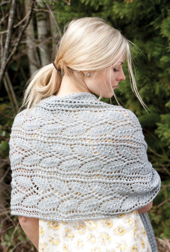 Knitted Wrap Scarf or Prayer Shawl pattern. PDF download.