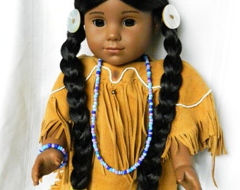 Native American Doll Jewelry 18 inch Doll Necklace Bracelet American Doll Mixed Color Beads Kaya Doll Accessories