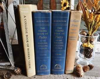 Old Books - 1950's Poetry & Verse FREE SHIPPING