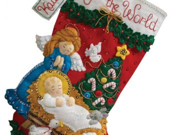 Pre-order 2018 Finished Bucilla Nativity Baby Christmas stocking