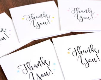 Set of Mini Thank You Cards - Set of 10 Mini Cards - Mini Thank You Note Cards - Mini Square Cards - Mini Note Cards for Customers