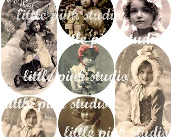 Vintage Christmas Sweethearts 02, collage sheet (printable, digital download)