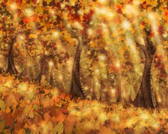 Autumn Dream - Art Prints by Simon Haiduk. Nature Inspired Visionary Art