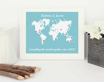 world traveller, personalised map, personalised world traveller map, travel adventure, personalised world map, personalised world, map print