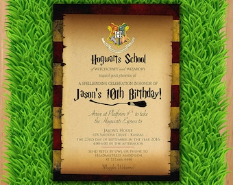 Harry potter invite etsy popular items for harry potter invite solutioingenieria Gallery