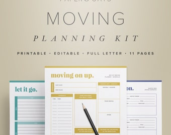 moving checklist etsy