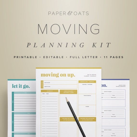 Moving Planning Kit Moving Planner Relocation Printable