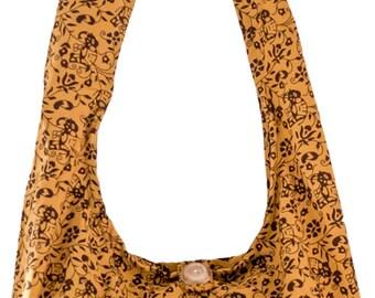 Sling Shoulder cross body Messenger Cotton bag ELEPHANT