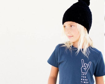 RocknRoll. Blue. 70s Vibe. Let the Good Times Roll Tee