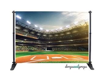 Baseball Field - Photography Backdrop