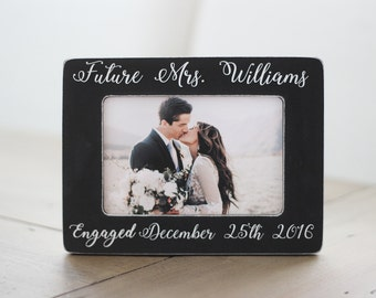 Personalized Engagement Picture Frame, Engagement Gift, Engagement Frame, Gift for Couple, Engagement Party, Future Mrs