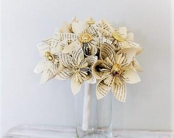 Wedding Bouquet, Wedding Flowers, Book Page Bouquet, Paper Bouquet, Kusudama Bouquet, Origami Bouquet, Kusudama, Origami, Paper Bouquet