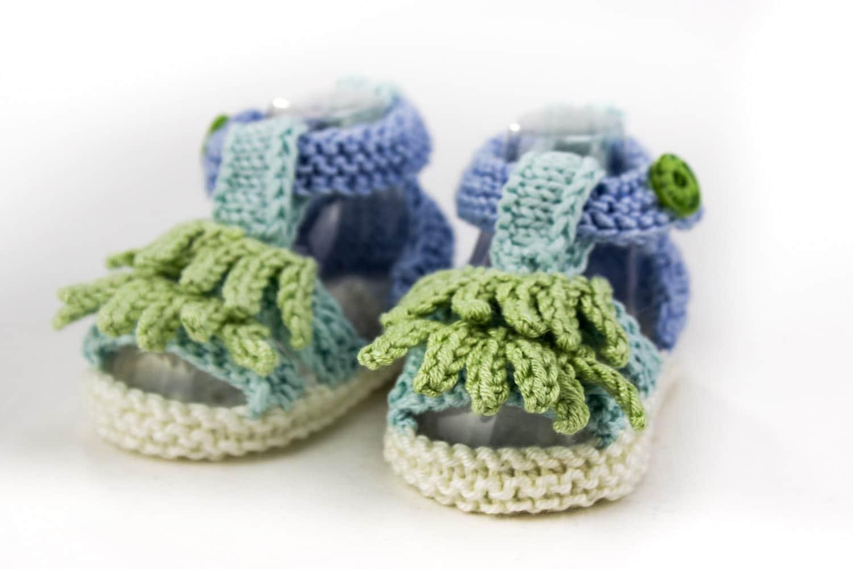Knitting Pattern Baby Boy Sandal Pattern Tassle Top Sandal