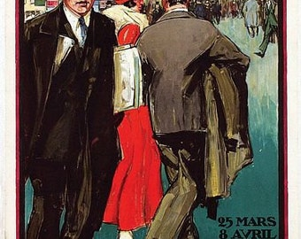 Vintage 1925 Brussels International Fair Poster A3 Print
