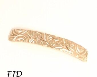 Hand Stamped Curved Bracelet Bar