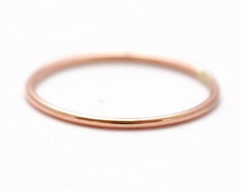 Simple Wedding Rings: 14K Rose Gold Band, Pretty Wedding Bands