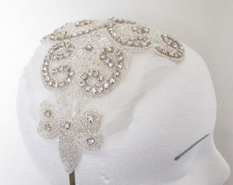 Bridal Headband /  Flower Headband  /  Feather Headpiece / The Whitney Headband