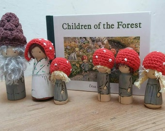 The Gnome children to the book of Elsa Beskow