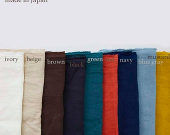 100% Linen Made in JAPAN 9colorway  Mid-heavyweight  110cm wide   TS-12500  1.Ivoly 2.Beige5Brown.6.Navy13.Green 50cm