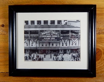 Wrigley Field - Iconic Chicago Ball Park Prior to 1945 World Series - Vintage Sports Wall Art