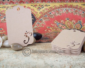 LIMITED 25 Die Cut OM Tags, tags, Price Tags, Gift Tags, Yoga Tags, Yoga Gift, Meditation