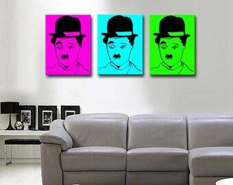 Triptych on canvas POP ART clown 45 x 60