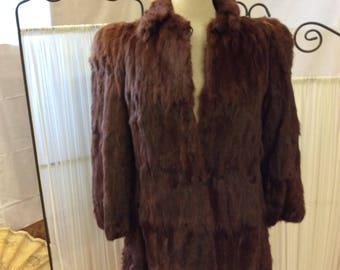 1950's Rabbit Fur Coat