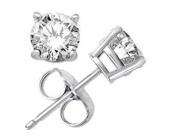 Sterling Silver 5mm Round Stud Earrings