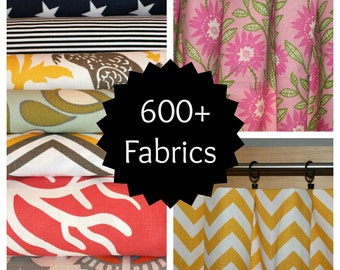 SALE ⋘ Curtains, Window Treatments, Curtain Panels 24W or 50W x 63, 84, 90, 96 or 108L ⋘ Choose from 100s of Premier Print Fabrics