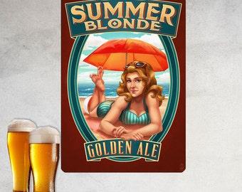 Summer Blonde Golden Ale Girl Wall Decal - #60709