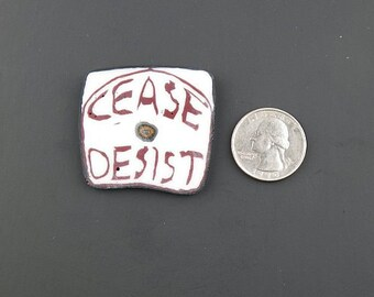 Cease and Desist Murrine Boro Coin 14 grams - 112 S