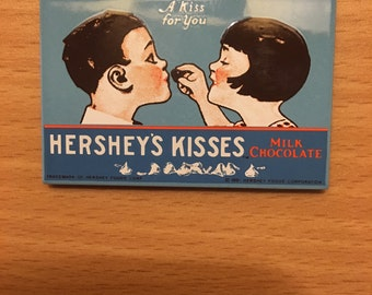 "Hershey's Kisses ""A Kiss for You"" vintage refrigerator magnet.. 1991."