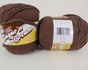Warm Brown - Lily Sugar'n Cream Super Size Solids Cotton Yarn