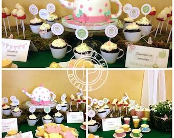 Enchanted garden TEA PARTY: printable birthday package