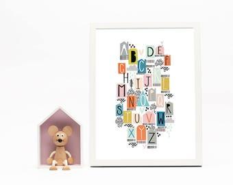 A-Z Alphabet Print