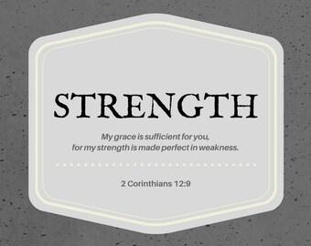 Strength Digital Scripture Card