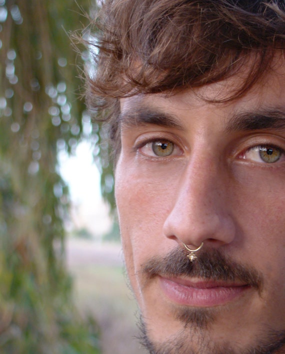 Septum For Men Diamond Septum Ring Gold Septum Ring Tribal