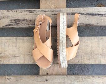 Greek sandals, Leather Espadrilles, Platform Espadrille Sandals, Gladiator Sandals, Criss Cross Sandals,Beach sandals,Greek Gladiator
